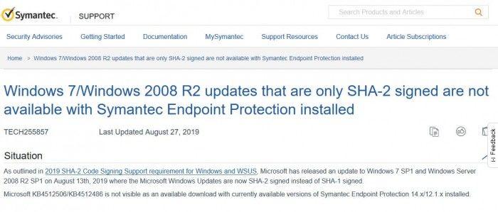 装有赛门铁克防病毒软韩国1.5分彩开奖走势-上全狐网件的Windows 7设备现可继续